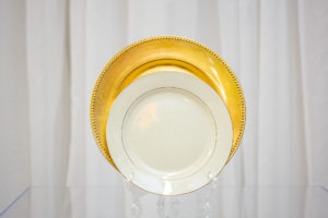 charger and plate set rental